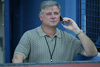 Houston Astros General Manager Gerry Hunsicker during a 2003 season MLB game at Dodger Stadium in Los Angeles, California. (Larry Goren/Four Seam Images)