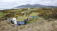 27 May 2015; Rory McIlroy tees off at the Par 3 4th.<br /> <br /> Dubai Duty Free Irish Open Golf Championship 2015, Pro-Am. Royal County Down Golf Club, Co. Down. Picture credit: John Dickson / DICKSONDIGITAL