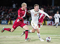 COLLEGE PARK, MD - NOVEMBER 15:  during a game between Indiana University and University of Maryland at Ludwig Field on November 15, 2019 in College Park, Maryland.