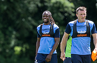 Marcus Bean smiles during the Wycombe Wanderers 2016/17 Pre Season Training Session at Wycombe Training Ground, High Wycombe, England on 1 July 2016. Photo by Andy Rowland / PRiME Media Images.