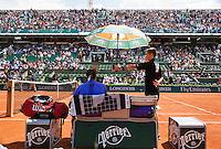 France, Paris , May 24, 2015, Tennis, Roland Garros, Roger Federer (SUI)<br /> Photo: Tennisimages/Henk Koster