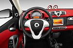 Steering wheel view of a 2013 Smart For Two Cabriolet
