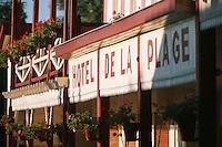 Europe/France/Aquitaine/33/Gironde/Bassin d'Arcachon/Le Cap Ferret: Détail de la facade de l'Hötel de la Plage