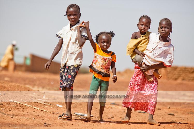 Children in the town of Djibo in northern Burkina Faso.