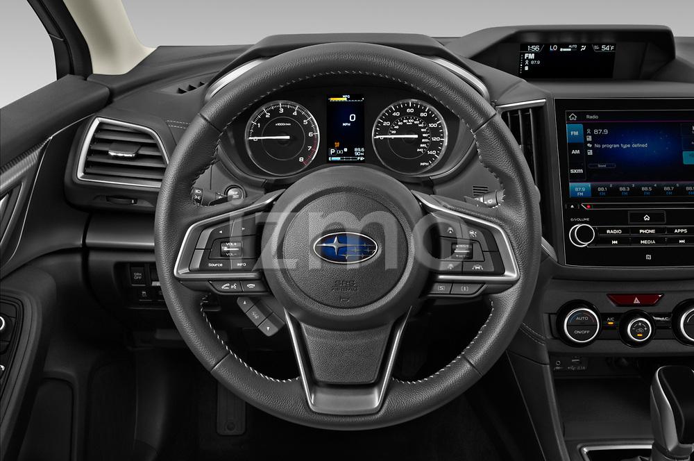 Car pictures of steering wheel view of a 2021 Subaru Impreza Limited 4 Door Sedan Steering Wheel