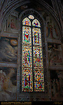 Stained Glass Windows 14th c Cappella Baroncelli Taddeo Gaddi Santa Croce Florence