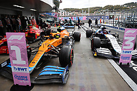 25th September 2021; Sochi, Russia; F1 Grand Prix of Russia  qualifying sessions;  F1 Grand Prix of Russia 4 Lando Norris GBR, McLaren F1 Team on pole