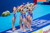Team Russian Federation RUS<br /> Gold Medal<br /> Synchro Women's Team Free Final Free Routine - Kazan Arena<br /> Day08 31/07/2015<br /> XVI FINA World Championships Aquatics Swimming<br /> Kazan Tatarstan RUS July 24 - Aug. 9 2015 <br /> Photo A.Masini/Deepbluemedia/Insidefoto