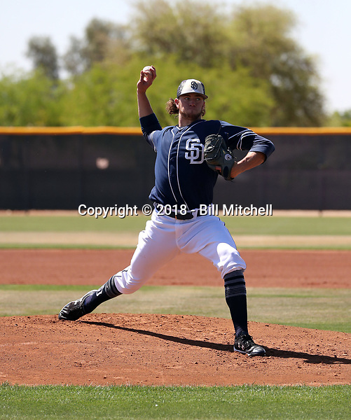 Chris Paddack - San Diego Padres 2018 extended spring training (Bill Mitchell)