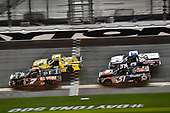 NASCAR Camping World Truck Series<br /> NextEra Energy Resources 250<br /> Daytona International Speedway, Daytona Beach, FL USA<br /> Friday 16 February 2018<br /> Korbin Forrister, All Out Motorsports, Tru Clear Global Toyota Tundra and Spencer Davis, Kyle Busch Motorsports, JBL/SiriusXM Toyota Tundra<br /> World Copyright: Nigel Kinrade<br /> LAT Images