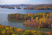 Autumn colors over Harrison Bay State Park on Chickamauga Lake
