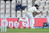 Mohammad Shami, India takes the catch to dismiss Devon Conway during India vs New Zealand, ICC World Test Championship Final Cricket at The Hampshire Bowl on 20th June 2021