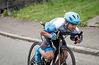 James Piccoli (CAN/Israel Start-Up Nation) tucked for speed<br /> <br /> 106th Liège-Bastogne-Liège 2020 (1.UWT)<br /> 1 day race from Liège to Liège (257km)<br /> <br /> ©kramon