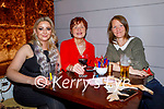 Samantha Dee, Patsy O'Connell and Kerry Lawless enjoying the evening in Benners Hotel on Thursday.