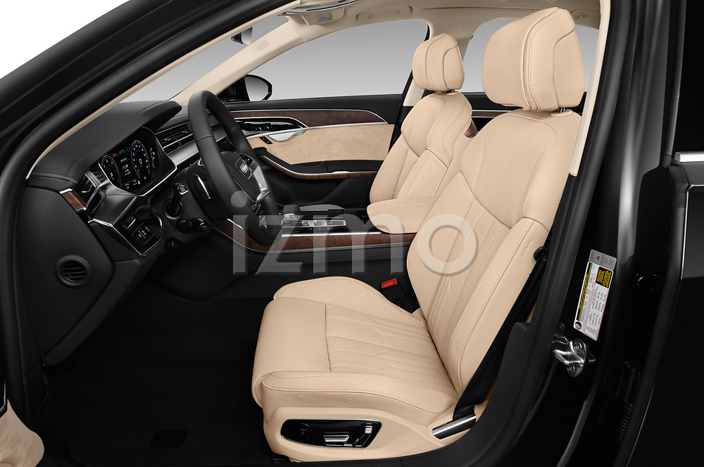 Front seat view of 2019 Audi A8-L Avus-Extended 4 Door Sedan Front Seat  car photos