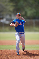 New York Mets Pitcher Taylor Henry (61) during a minor league Spring Training game against the Miami Marlins on March 26, 2017 at the Roger Dean Stadium Complex in Jupiter, Florida.  (Mike Janes/Four Seam Images)