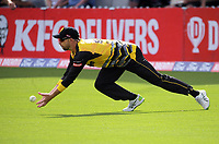 Devon Conway catches Daryl Mitchell in the outfield during the Dream11 Super Smash T20 men's cricket final between Wellington Firebirds and Canterbury Kings at the Basin Reserve in Wellington, New Zealand on Saturday, 13 February 2021. Photo: Dave Lintott / lintottphoto.co.nz