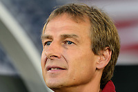 United States head coach Jurgen Klinsmann. The United States defeated Costa Rica 1-0 during a CONCACAF Gold Cup group B match at Rentschler Field in East Hartford, CT, on July 16, 2013.