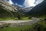 Cirque de Gavarnie.Pyrénées centrales. Parc national des Pyrénées. Patrimoine mondial de l'Unesco. France.The French Pyrenees. France