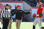 December 30, 2016: Georgia Bulldogs head coach Kirby Smart tries to explain a call to the referee regarding Lorenzo Carter (7) in the first half of the AutoZone Liberty Bowl at Liberty Bowl Memorial Stadium in Memphis, Tennessee. ©Justin Manning/Eclipse Sportswire/Cal Sport Media