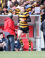 2015 ULSTER SCHOOLS CUP FINAL | Tuesday 17th March 2015<br /> <br /> Callum McLaughlin during the 2015 Ulster Schools Cup Final between RBAI and Wallace High School at the Kingspan Stadium, Ravenhill Park, Belfast, Count Down, Northern Ireland.<br /> <br /> Picture credit: John Dickson / DICKSONDIGITAL