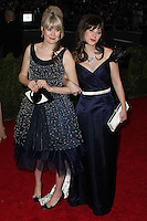 "NEW YORK CITY, NY, USA - MAY 05: Tennessee Thomas, Zooey Deschanel at the ""Charles James: Beyond Fashion"" Costume Institute Gala held at the Metropolitan Museum of Art on May 5, 2014 in New York City, New York, United States. (Photo by Xavier Collin/Celebrity Monitor)"
