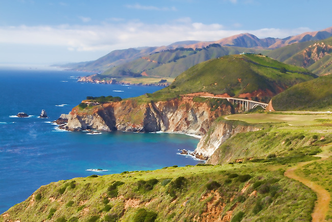 Bixby Bridge in Marin County set against the California Coast