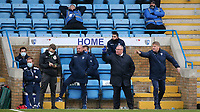 Gillingham Manager, Steve Evans and his Assistant, Paul Raynor issue some instructions from the home dug out during Gillingham vs Charlton Athletic, Sky Bet EFL League 1 Football at the MEMS Priestfield Stadium on 21st November 2020
