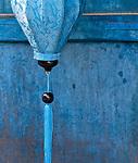 Silk Lantern - Blue silk lantern, Hoi An, Viet Nam