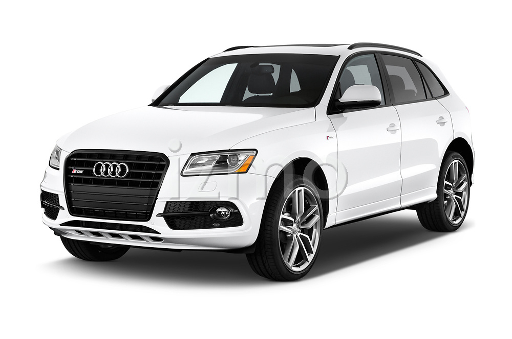 2015 Audi SQ5 quattro tiptronic Premium 5 Door SUV angular front stock photos of front three quarter view