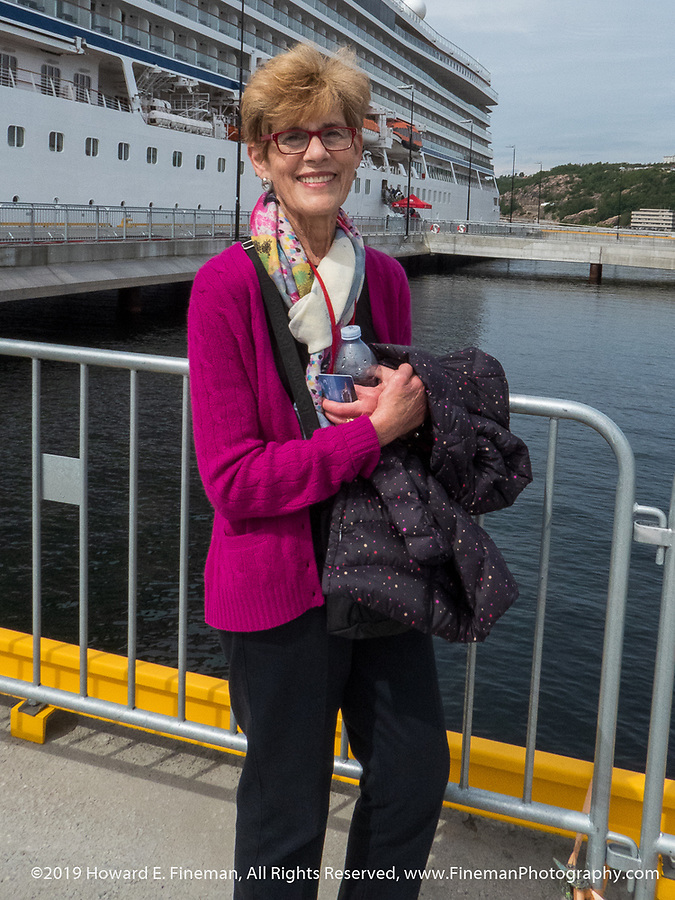 Janice after a morning of touring Kristiansand