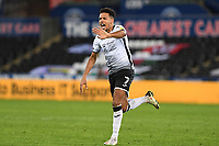 Korey Smith of Swansea City in action during the Sky Bet Championship match between Swansea City and Cardiff City at the Liberty Stadium in Swansea, Wales, UK. Saturday 20 March 2021