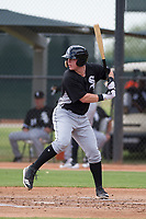 Chicago White Sox catcher Zach Collins (33) at bat during an Instructional League game against the San Diego Padres on September 26, 2017 at Camelback Ranch in Glendale, Arizona. (Zachary Lucy/Four Seam Images)
