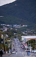 Karori town centre at 4pm, Wednesday, during lockdown for the COVID19 pandemic in Wellington, New Zealand on Wednesday, 22 April 2020. Photo: Dave Lintott / lintottphoto.co.nz