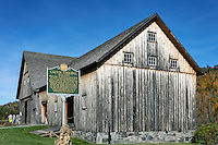 The Wilder horse barn, part of the Calvin Coolidge Homestead historic site, Plymouth Notch, Vermont, USA