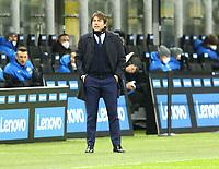 Milano  26-01-2021<br /> Stadio Giuseppe Meazza<br /> Coppa Italia Tim 2020/21<br /> Inter - Milan nella foto:  Antonio Conte Allenatore Inter Fc                                                        <br /> Antonio Saia Kines Milano
