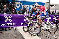 Dries de Bondt (BEL/Alpecin-Fenix) & Mathieu Van der Poel (NED/Alpecin-Fenix) at the start<br /> <br /> 60th De Brabantse Pijl 2020 - La Flèche Brabançonne (1.Pro)<br /> 1 day race from Leuven to Overijse (BEL/197km)<br /> <br /> ©kramon