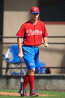 Philadelphia Phillies pitcher Nick Fanti during an instructional league game against the Toronto Blue Jays on October 3, 2015 at the Carpenter Complex in Clearwater, Florida.  (Mike Janes/Four Seam Images)