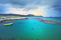 SC - OUTER HEBRIDES- Island of SOUTH UIST<br /> Emerald green sea at the bridge to the neighbouring Isle of Eriksay<br /> <br /> Full size: 69,2 MB