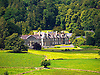 """The Trawsgoed Estate (Welsh for """"Crosswood"""") is an estate located eight miles (13 km) east of Aberystwyth in Ceredigion, Wales, that has been in the possession of the Vaughan family since 1200. <br /> <br /> The house is set in listed parkland and gardens and is some eight miles (13 km) inland from Aberystwyth.<br /> <br /> Stock Photo by Paddy Bergin"""