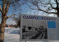 Fossoli / Modena / Italia.A circa sei chilometri da Carpi, in località Fossoli rimangono ancora le tracce visibili di quello che, nel corso del 1944, è diventato il Campo poliziesco e di transito (Polizei- und Durchgangslager) utilizzato dalle SS come anticamera dei Lager del Reich. I circa 5.000 prigionieri politici e razziali che passarono da Fossoli ebbero come tragiche destinazioni i campi di Auschwitz-Birkenau, Dachau, Buchenwald, Flossenburg..In Fossoli, six km from Carpi, are still visible traces of  the concentration camp (Polizei-und Durchgangslager) used by the Nazi during 1944 for the deportation of about 5,000 political and racial prisoners  Fossoli to Auschwitz-Birkenau, Dachau, Buchenwald, Flossenburg camps..Photo Livio Senigalliesi.