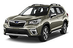 2019 Subaru Forester e-Boxer-Premium 5 Door SUV Angular Front automotive stock photos of front three quarter view