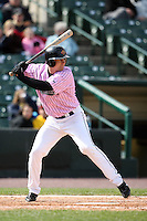 May 10, 2009:  Designated Hitter Justin Huber of the Rochester Red Wings, Triple-A International League affiliate of the Minnesota Twins, at bat during a game at Frontier Field in Rochester, NY.  The Red Wings wore special pink jerseys for Mothers Day.  Photo by:  Mike Janes/Four Seam Images