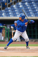 GCL Blue Jays right fielder Norberto Obeso (28) at bat during a game against the GCL Phillies on August 16, 2016 at Bright House Field in Clearwater, Florida.  GCL Blue Jays defeated GCL Phillies 2-1.  (Mike Janes/Four Seam Images)