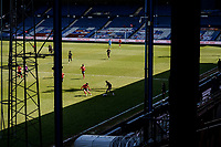 17th April 2021; Kenilworth Road, Luton, Bedfordshire, England; English Football League Championship Football, Luton Town versus Watford; View of the match from the main stand at Kenilworth Road.
