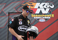 Apr. 6, 2013; Las Vegas, NV, USA: NHRA pro stock driver Vincent Nobile during the K&N Horsepower Challenge during qualifying for the Summitracing.com Nationals at the Strip at Las Vegas Motor Speedway. Mandatory Credit: Mark J. Rebilas-