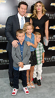 NEW YORK CITY, NY, USA - JUNE 25: Mark Wahlberg, Brendan Wahlberg, Ella Rae Wahlberg, Rhea Durham and Michael Wahlberg arrive at the New York Premiere Of Paramount Pictures' 'Transformers: Age Of Extinction' held at the Ziegfeld Theatre on June 25, 2014 in New York City, New York, United States. (Photo by Celebrity Monitor)