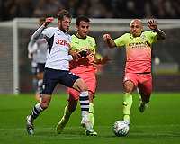 Preston North End's Tom Barkhuizen battles for the ball<br /> <br /> Photographer Dave Howarth/CameraSport<br /> <br /> The Carabao Cup Third Round - Preston North End v Manchester City - Tuesday 24th September 2019 - Deepdale Stadium - Preston<br />  <br /> World Copyright © 2019 CameraSport. All rights reserved. 43 Linden Ave. Countesthorpe. Leicester. England. LE8 5PG - Tel: +44 (0) 116 277 4147 - admin@camerasport.com - www.camerasport.com