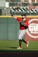 Indianapolis Indians first baseman Will Craig (25) warms up in the outfield prior to the game against the Charlotte Knights at BB&T BallPark on April 27, 2019 in Charlotte, North Carolina. The Indians defeated the Knights 8-4. (Brian Westerholt/Four Seam Images)