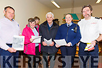 Pictured at the National Community Engagement Day at Cahersiveen Garda station on Friday were l-r; Pat O'Driscoll(County Chairman Kerry IFA), Mary Jo Fitzpatrick(Waterville), John Joe O'Sullivan(Ballinskelligs), Garda Catherine Curran & Andrew Garvey(Station Officer Cahersiveen Fire Service).